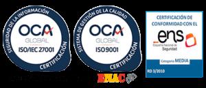 Certificados de OCA y ENS en Espaciorack